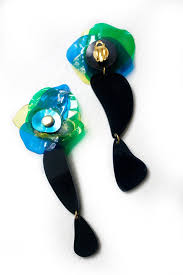 plastic bottle earrings beautiful handcrafted asymmetrical earrings upcycled jewellery