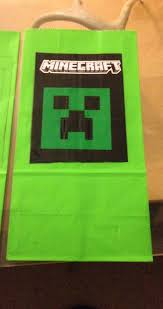 minecraft goody bags creeper party favor bags
