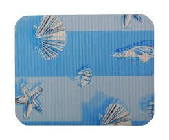 protege evier cuisine tapis fond evier protection cuisine imprimé océan bleu 2447