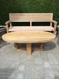 Teak Coffee Table Oval Teak Coffee Table Mecox Gardens