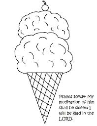 ice cream cone sunday lesson