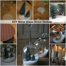 wine glass snow globes diy wine glass snow globes i diy