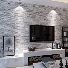 wallpapers for home interiors decor dazzling faux stone wall for home decoration ideas