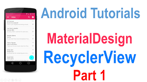 table layout material design android 225 android recyclerview tutorial part 1 youtube