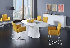dining room simple modern white square dining table set with