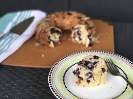 this lemon blueberry bundt cake is ready for breakfast dessert or