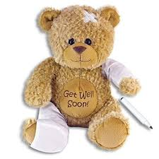 get well soon teddy 15 plush get well soon teddy w cast for