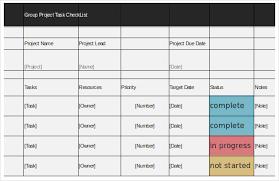 task checklist template u2013 8 free word excel pdf documents