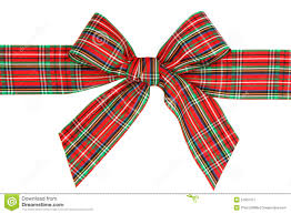 plaid ribbon plaid ribbon bow stock photo image 51952477