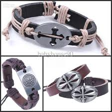 leather bracelets for men the cheap leather bracelets for men peace sign cross bracelet