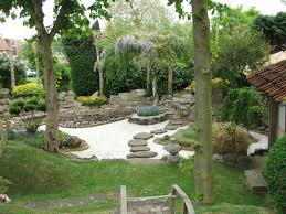 amazing decoration of japanese garden design with wooden path also