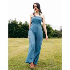 cotton jumpsuit sky blue cotton jumpsuit handmade harem skirts dresses