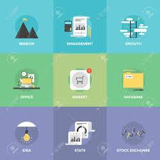 bureau des statistiques icônes forfaitaire prévu de lieu de travail de bureau créatif