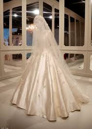 display wedding dress miranda kerr s wedding gown on display at exhibition daily