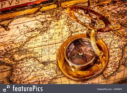 Ancient World Map by Image Of Vintage Compass And Map