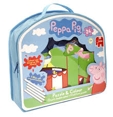 peppa pig giant double sided puzzle colour jigsaw puzzle 24