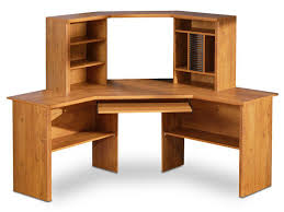 fascinating wood computer desk that creates warm and cozy interior
