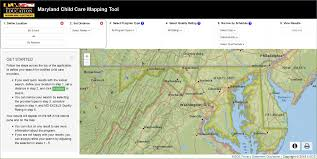 Map Radius Tool Child Care Mapping In Maryland Tu Innovates