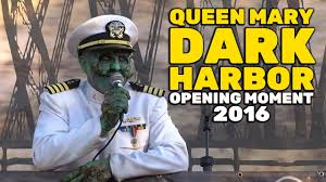 queen mary u0027s dark harbor opening moment on first night 2016 youtube