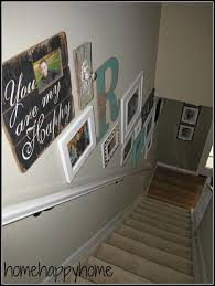 Large Wall Decor Ideas For Living Room Best 25 Stair Wall Decor Ideas On Pinterest Staircase Wall