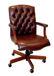 Leather Office Desk Chairs Leather Desk Chair Mrsapo