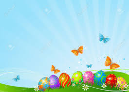 abstract easter background with beautiful coloring easter eggs