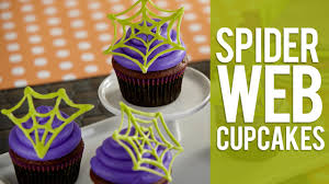 how to make candy spider web cupcakes halloween cupcakes youtube