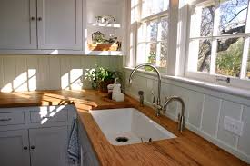 wooden countertops wooden countertops gray cabinets and