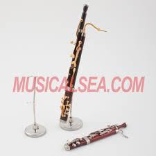 miniature bassoon model decorative musical instrument ornament for