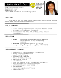 Sample Resume Objectives Computer Programmer by Sample Resume For Ojt Computer Science Students Free Resume