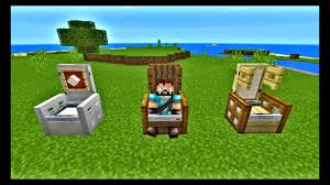 Minecraft Furniture Ideas Pe How To Make A Fancy Chairs In Minecraft Pe 1 Youtube