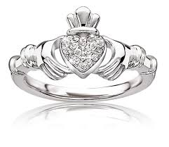 claddagh ring story diamond claddagh ring in sterling silver