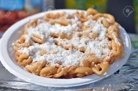 fried dough funnel cake or elephant ear sold at north carolina