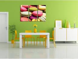 toile deco cuisine tableau déco cuisine macarons triptyque déco murale pas chère
