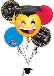 anagram awesome grad congrats emoji emoticon decor 6pc balloon