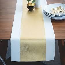 painted metallic table runner west elm
