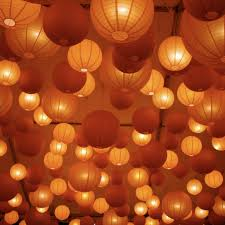Hanging String Lights From Ceiling by Photo Via Hanging Lanterns And Wedding