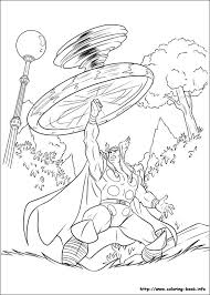 Coloring Picture Thor Coloring Page