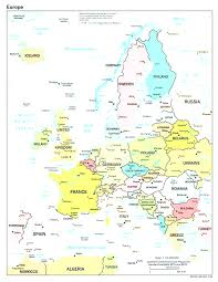 Map Of Europe Political by Political Europe Map With Countries And Capitals Simple Map