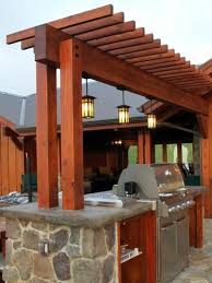 Pergola Top Ideas by Pergola Bar And Lighting I Like The Simple Straight Cut Ends