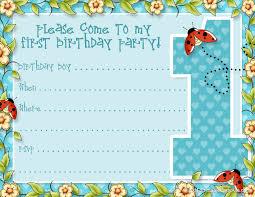 free birthday invitations 1st birthday party invitations templates free alanarasbach
