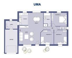 plan maison 3 chambres plain pied plan de maison plain pied 100m2 plein lzzy co plans gratuit 5 3