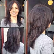 layered crown haircut medium hairstyles with bangs and face framing layers u cut
