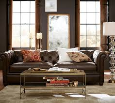 Pottery Barn Sofa Bed Chesterfield Leather Sofa Pottery Barn