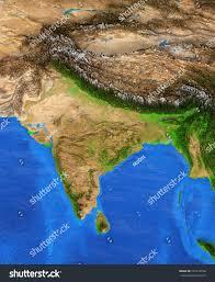 Satellite View Maps Map India Detailed Satellite View Earth Stock Illustration