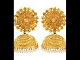gold earrings jhumka design gold jhumkas designs