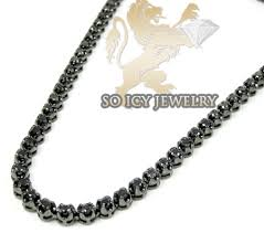 black gold chain necklace images 10k black gold round black diamond chain 11 00ct jpg