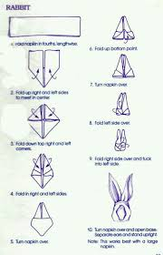 how to make table napkins how to fold a napkin into a bunny with pictures astuce