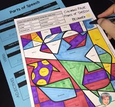 parts of speech coloring pages free samples for earth day grades