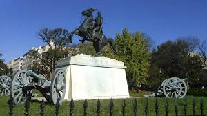 andrew jackson statue in lafayette square d c youtube